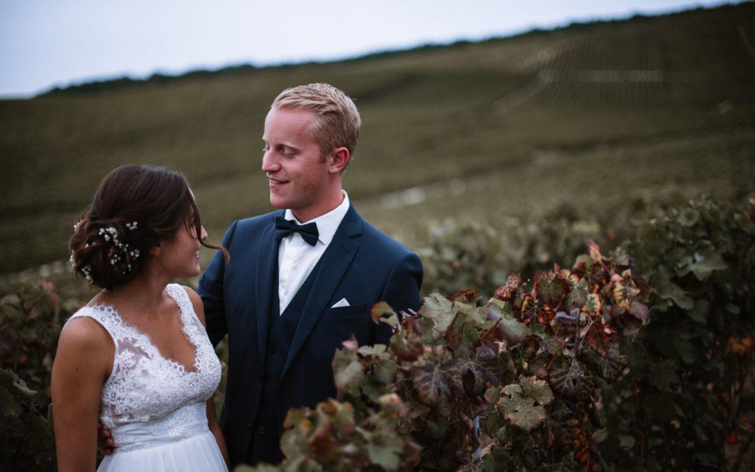 Un mariage près de Reims, dans les vignes de la Marne
