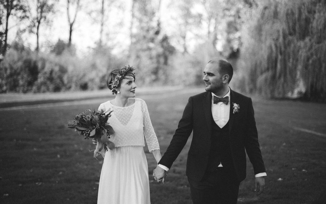 Marion et Guillaume, un mariage automnal en Belgique