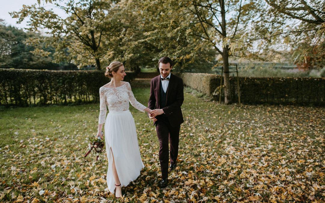 A fall wedding at La Ferme de Balingue in Belgium