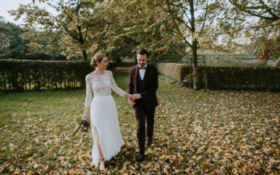 A fall wedding at La Ferme de Balingue in Belgium